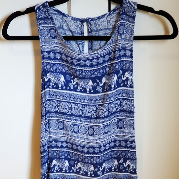Forever21 blue and white tank